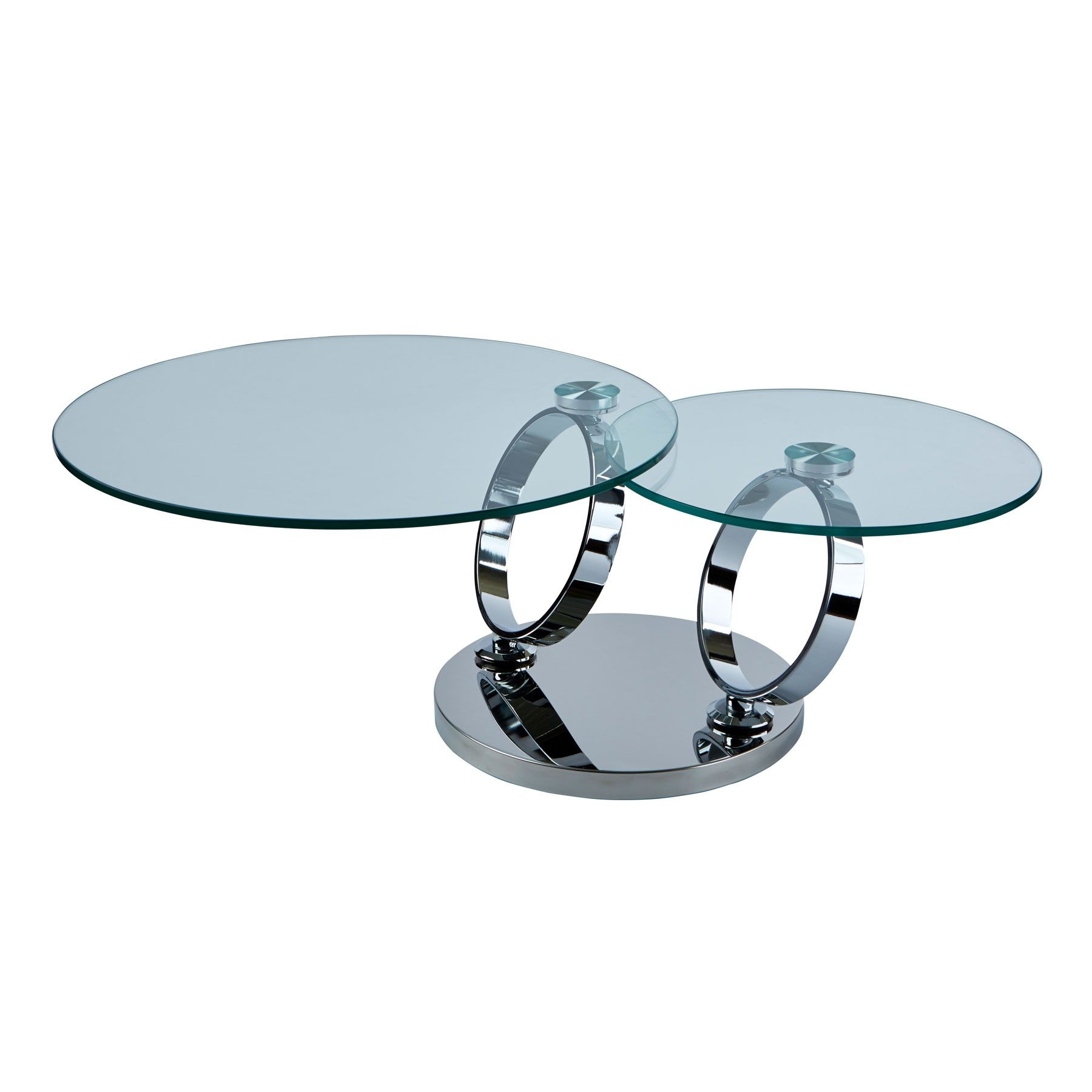 Magic Rings Chrome Motion Coffee Table Coffee Table Glass Top Table Table [ 1800 x 1800 Pixel ]
