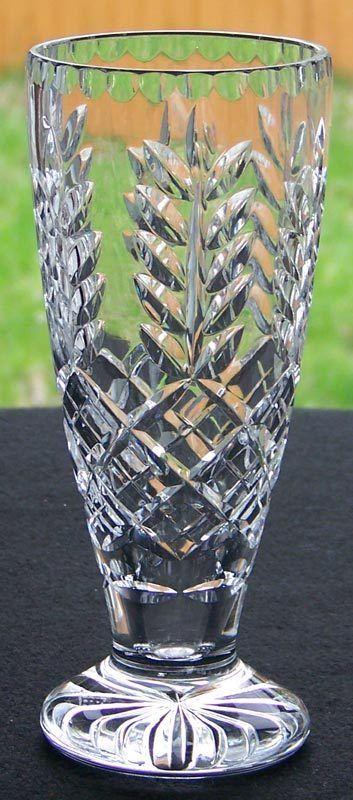 Royal Doulton Crystal Vase Signed Royal Doulton England 23 I