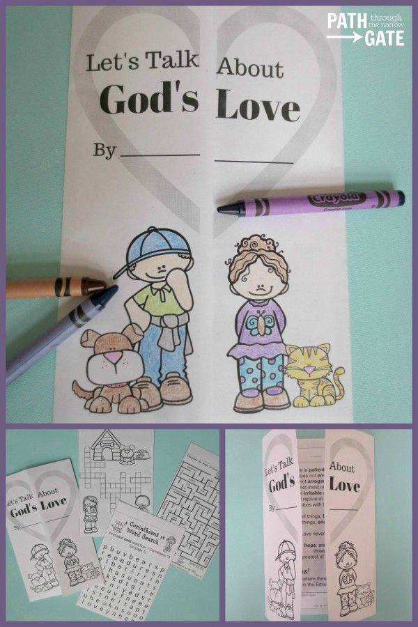 Teach your kids about God's Love with this free printable notebook.
