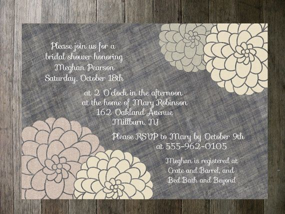 Textured Paper For Wedding Invitations: Love These Printable Bridal Shower Invitations -Textured