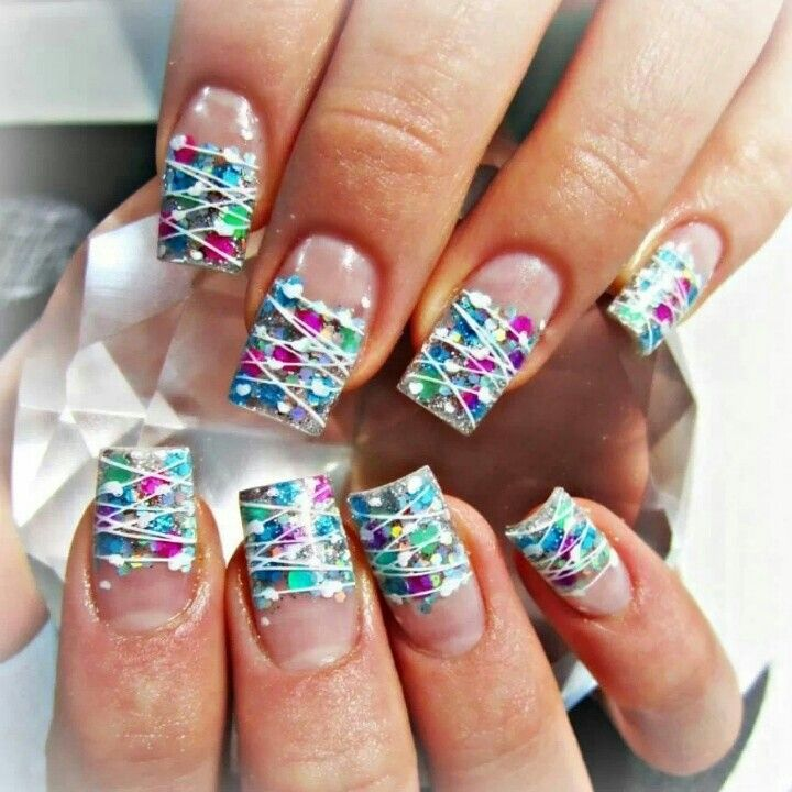 Girly acrylic nails | Acrylic Nail Designs | Pinterest | Nail nail ...