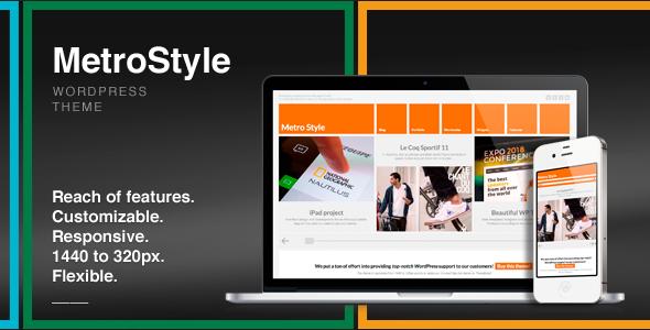 MetroStyle Responsive All Purpose WordPress Theme | Pinterest