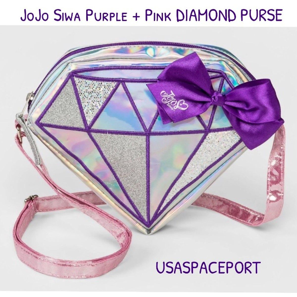 Jojo Siwa Purple Diamond Purse Hand Bag Purple Diamond Jojo Siwa Purses