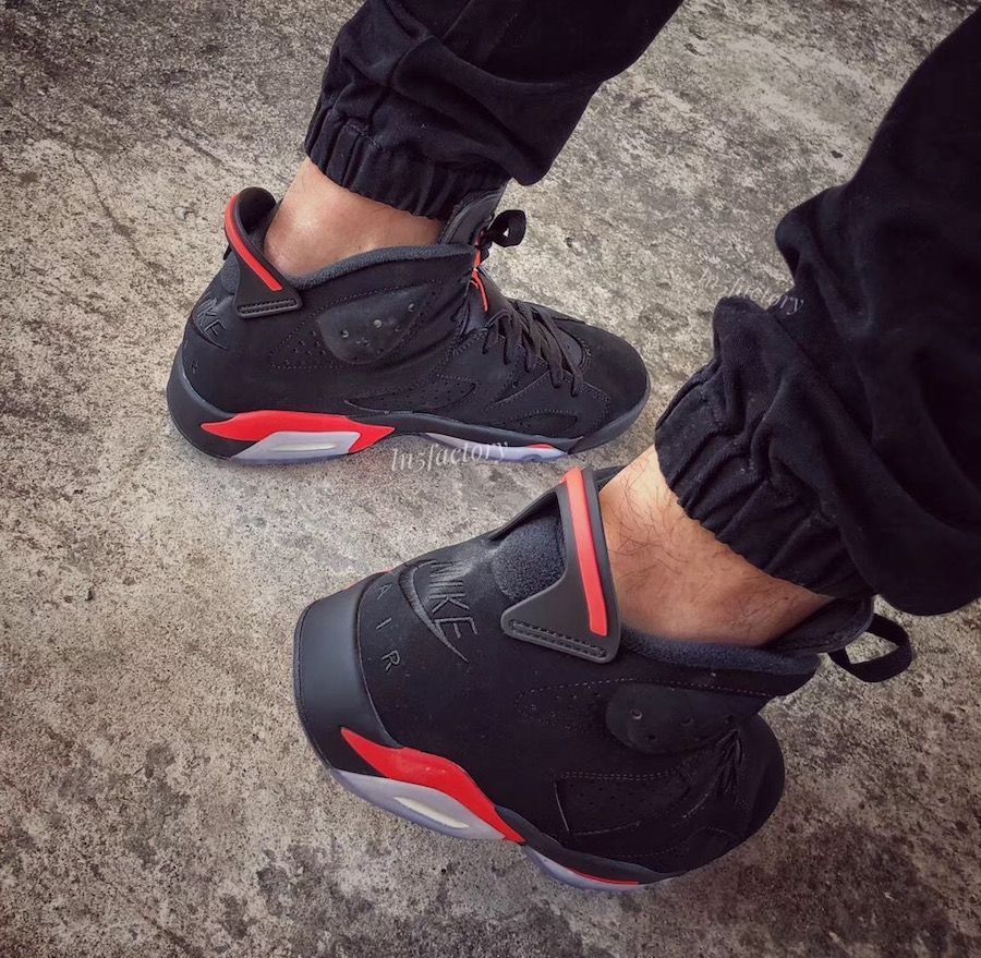 19c2f2b05f7f Air Jordan 6 Black Infrared 2019 Retro 384664-060 Release Date ...