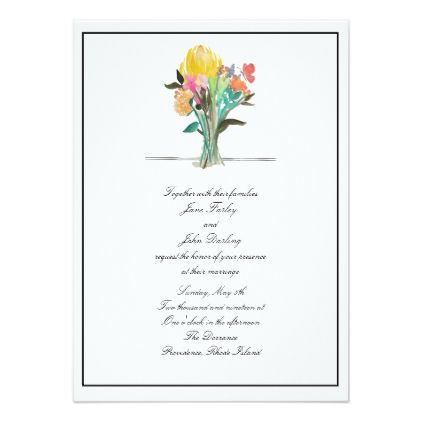 Colorful Bouquet Formal Invitation  Wedding Invitations Diy Cyo