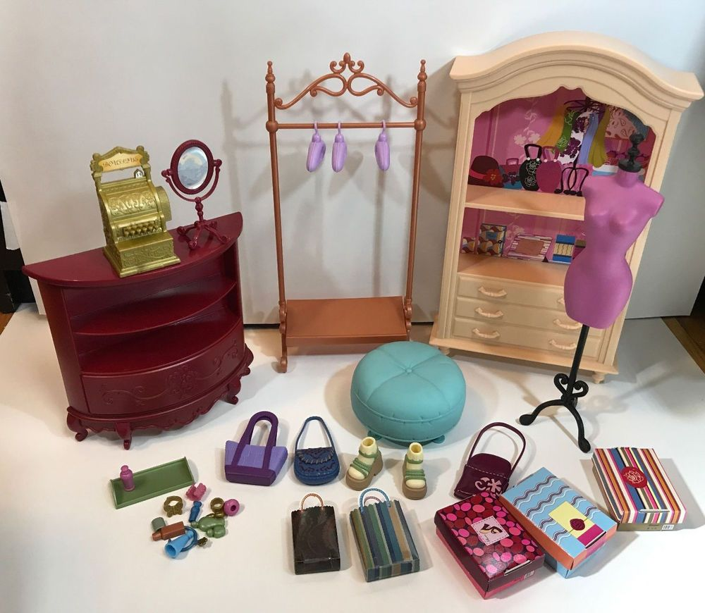 Barbie Doll My Scene Accessory Shelf Round Cabinet Boutique Shop Store Furniture