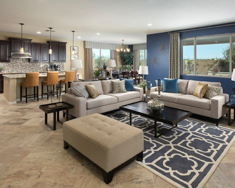 20 Luxury Living Room Ideas With Blue Accents For Your Home Page 6 Of 19 Accent Walls In Living Room Luxury Living Room Blue Accent Wall Living Room