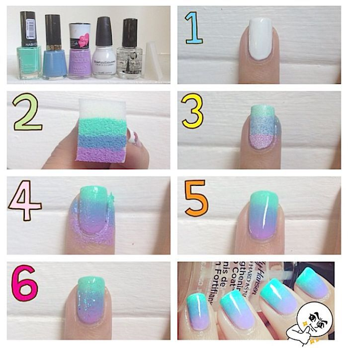 Beautiful Photo Nail Art: How to do ombre nails - 14 tutorials ...