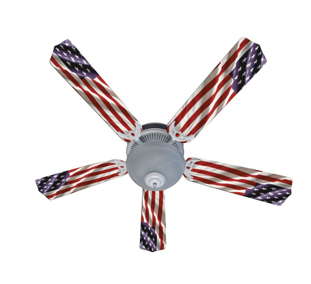 American flag ceiling fan decorate your own presidential white american flag ceiling fan mozeypictures Image collections
