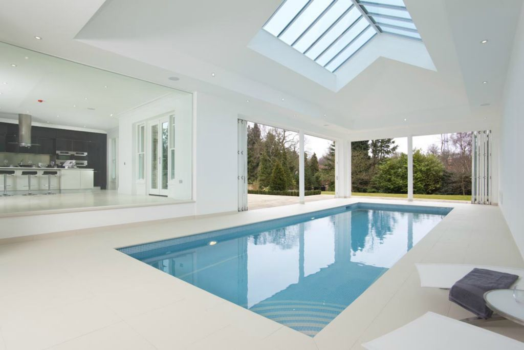Indoor Swimming Pool Design Ideas Equipped With White Ceiling Unit With  Best Glass Panel Plan Unit   Pool Design   Pinterest   Indoor Swimming Pools,  ...