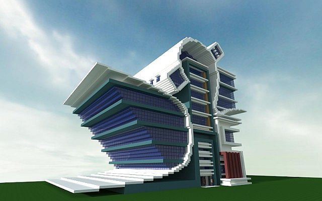 Modern futurist city building minecraft project for Modern building design minecraft