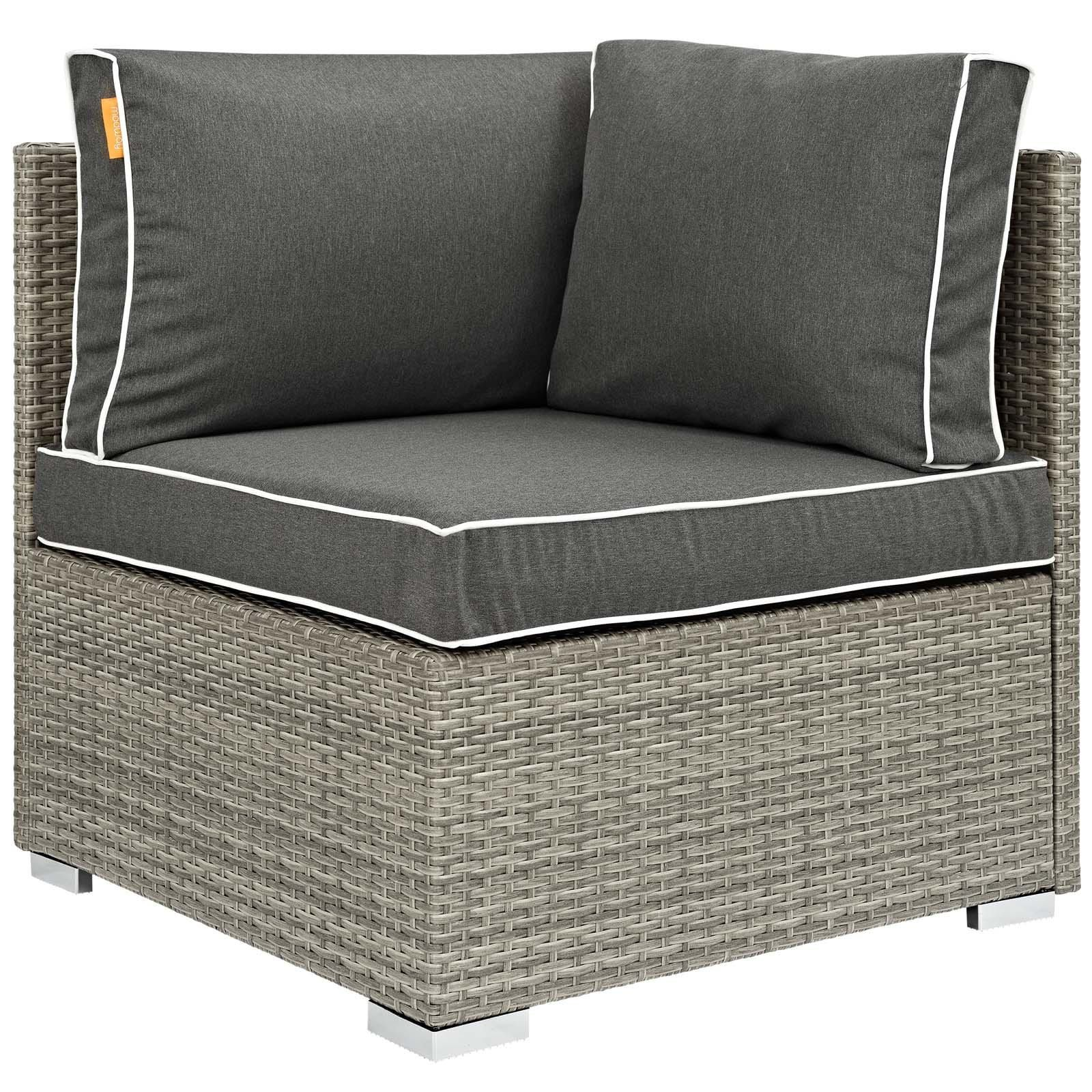 Modway Repose Outdoor Patio Corner Chair Patio Chairs Modway