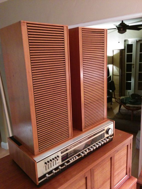 Vintage Grundig Hi-Fi Box 525 speakers only by WoodBrassClass