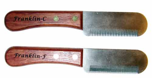Franklin Stripping Knives Wooden handles, Kitchen knives
