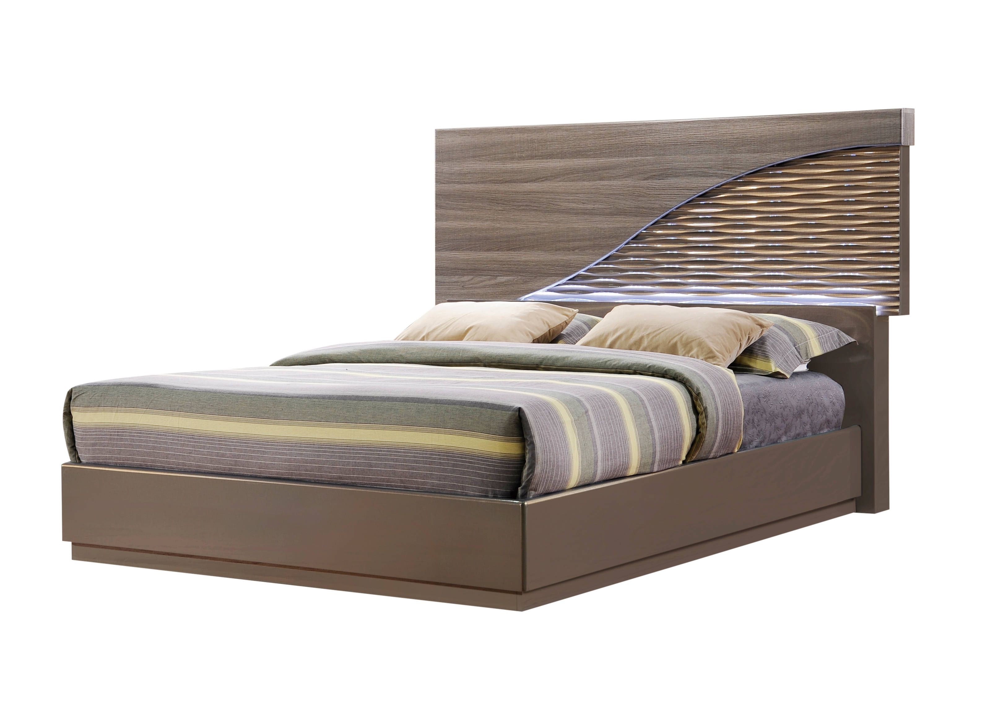 Global Furniture North Gold Line Queen Bed