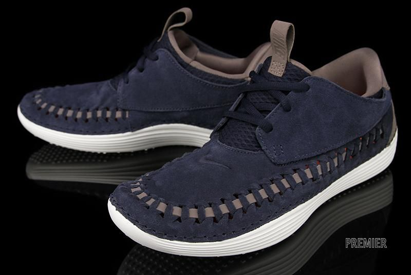 competitive price 70223 2184a Nike Solarsoft Moccasin Premium Woven Dark Obsidian