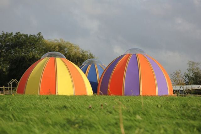 Pod tents by Unidome & Celia Birtwell Candy Flower Dome Tent | Awesome tents caravans ...