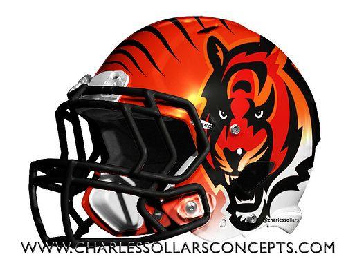 Bengals 14 Cool Football Helmets Cincinnati Bengals Football