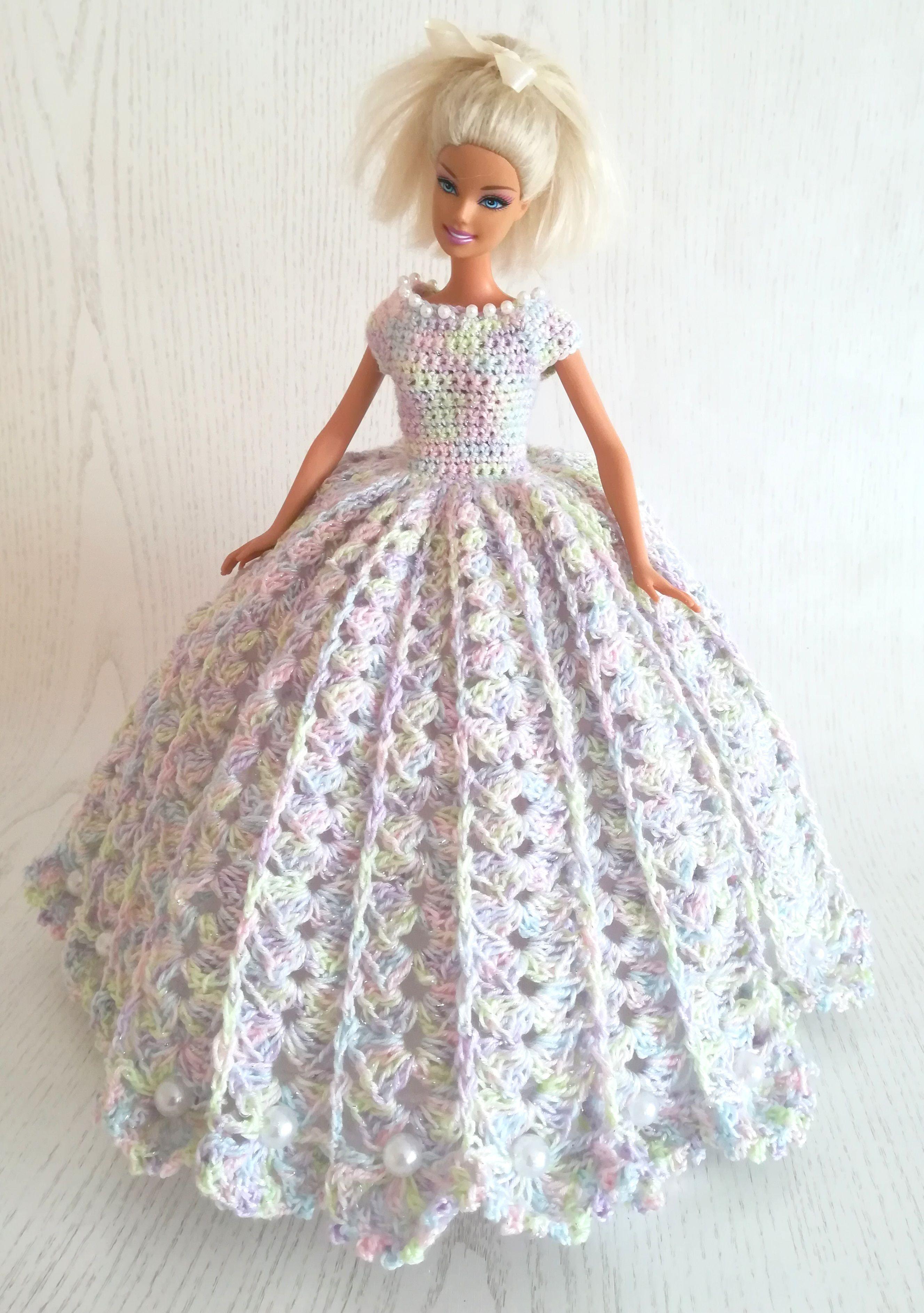 Dress for Barbie doll crochet in 2020 Crochet wedding