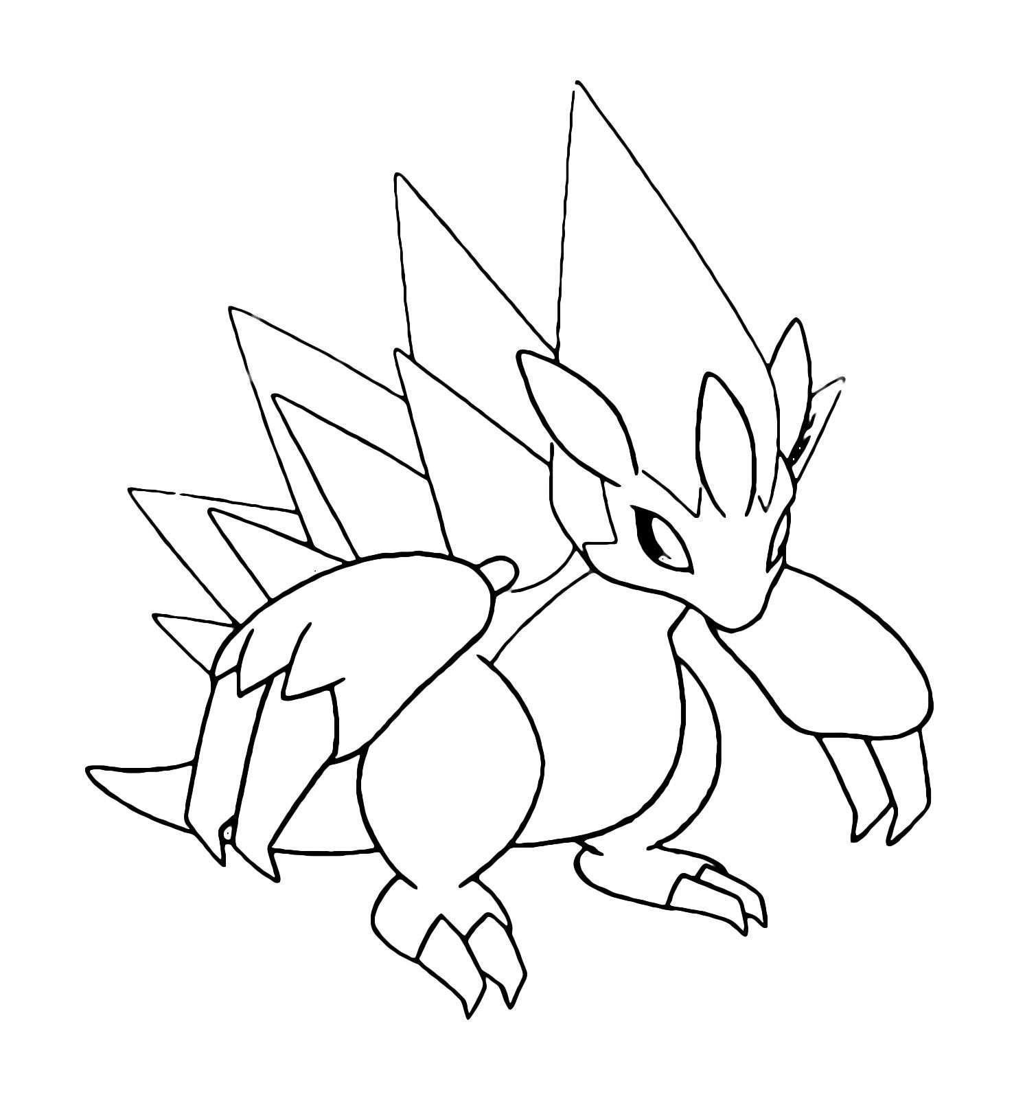 Pokemon Alolan Sandslash Coloring Pages Ausmalbilder Ausmalen Bilder