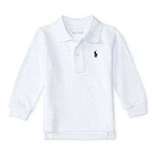 327c9cf1d0f5e Camisa Pólo Bebê Ralph Lauren na Hype kids. Camisa Polo Infantil Manga  Longa branca de