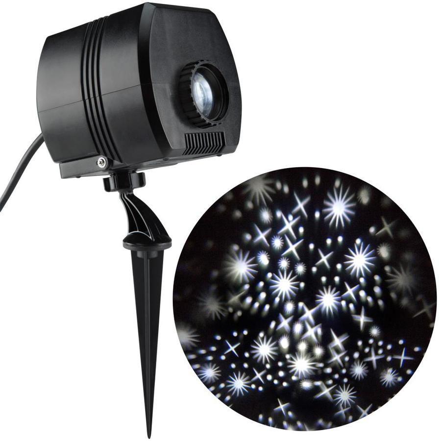 Lightshow Twinkling White Led Fairy Dust Christmas Indoor Outdoor Stake Light Projector Christmas Light Projector Outdoor Christmas Lights Outdoor Christmas