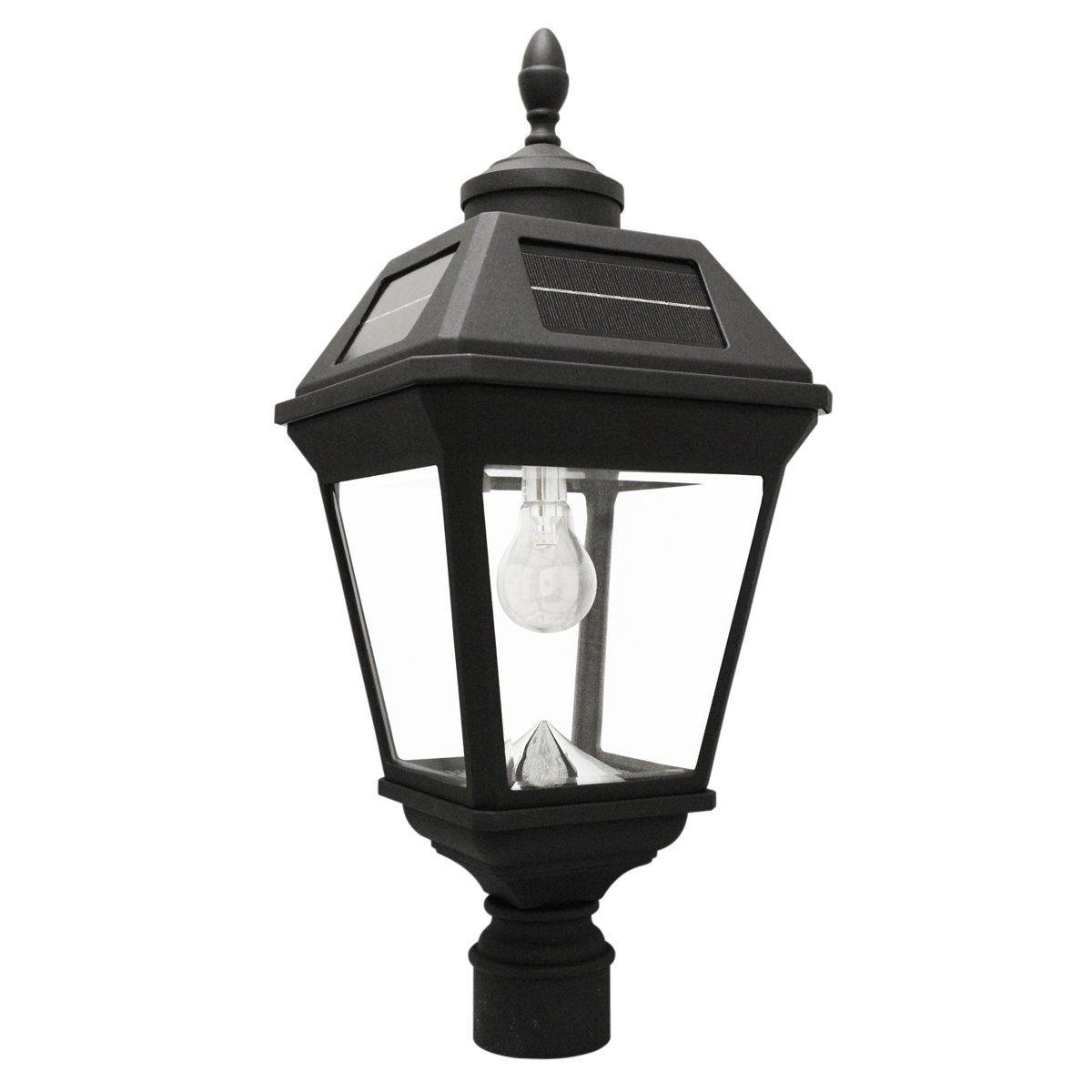 Grayton Bulb Solar Lamp 3 Inch Fitter Mount Black Finish By Havenside Home Solar Post Lights Outdoor Solar Lamps Solar Light Bulb