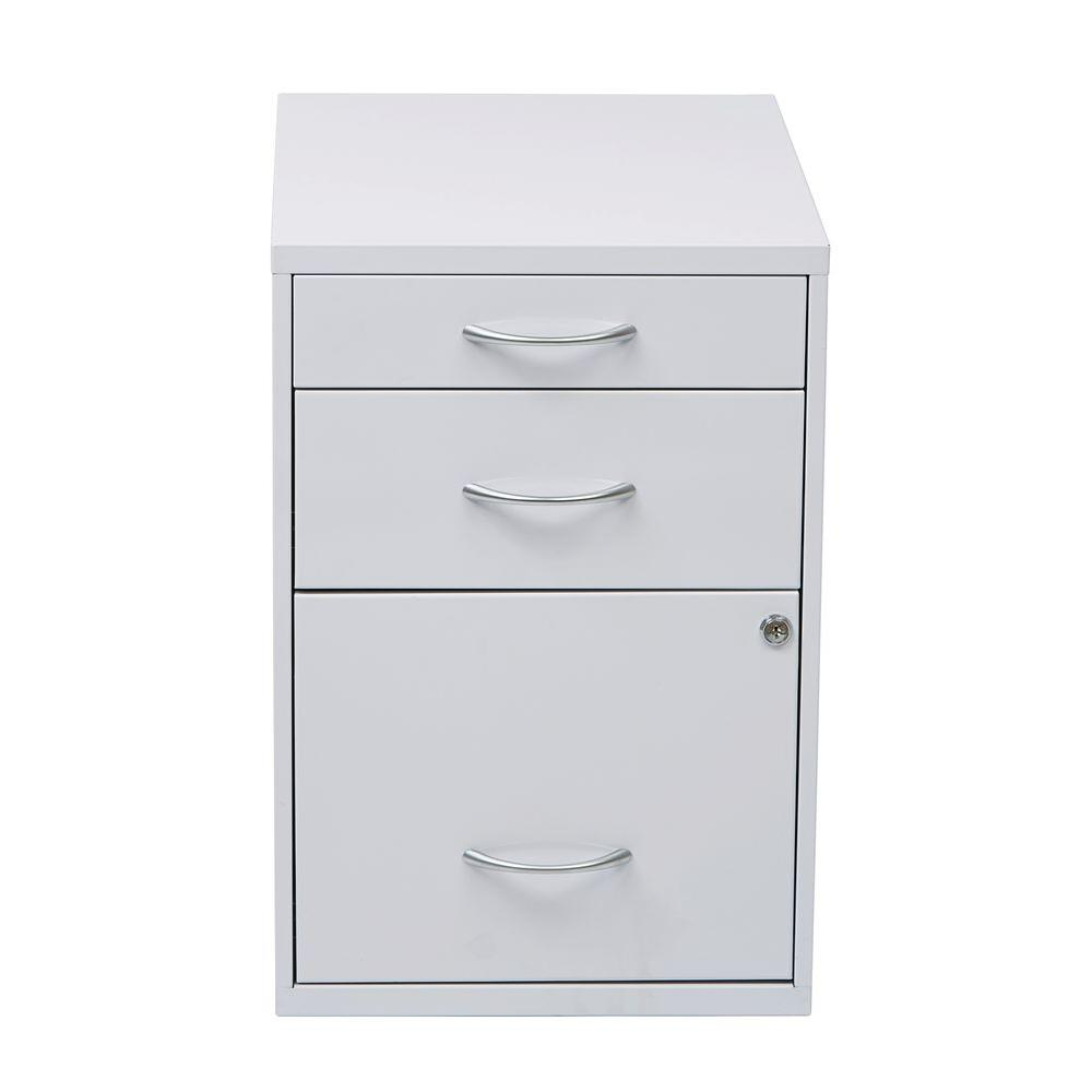 Osp Home Furnishings White File Cabinet Hpbf11 Filing Cabinet
