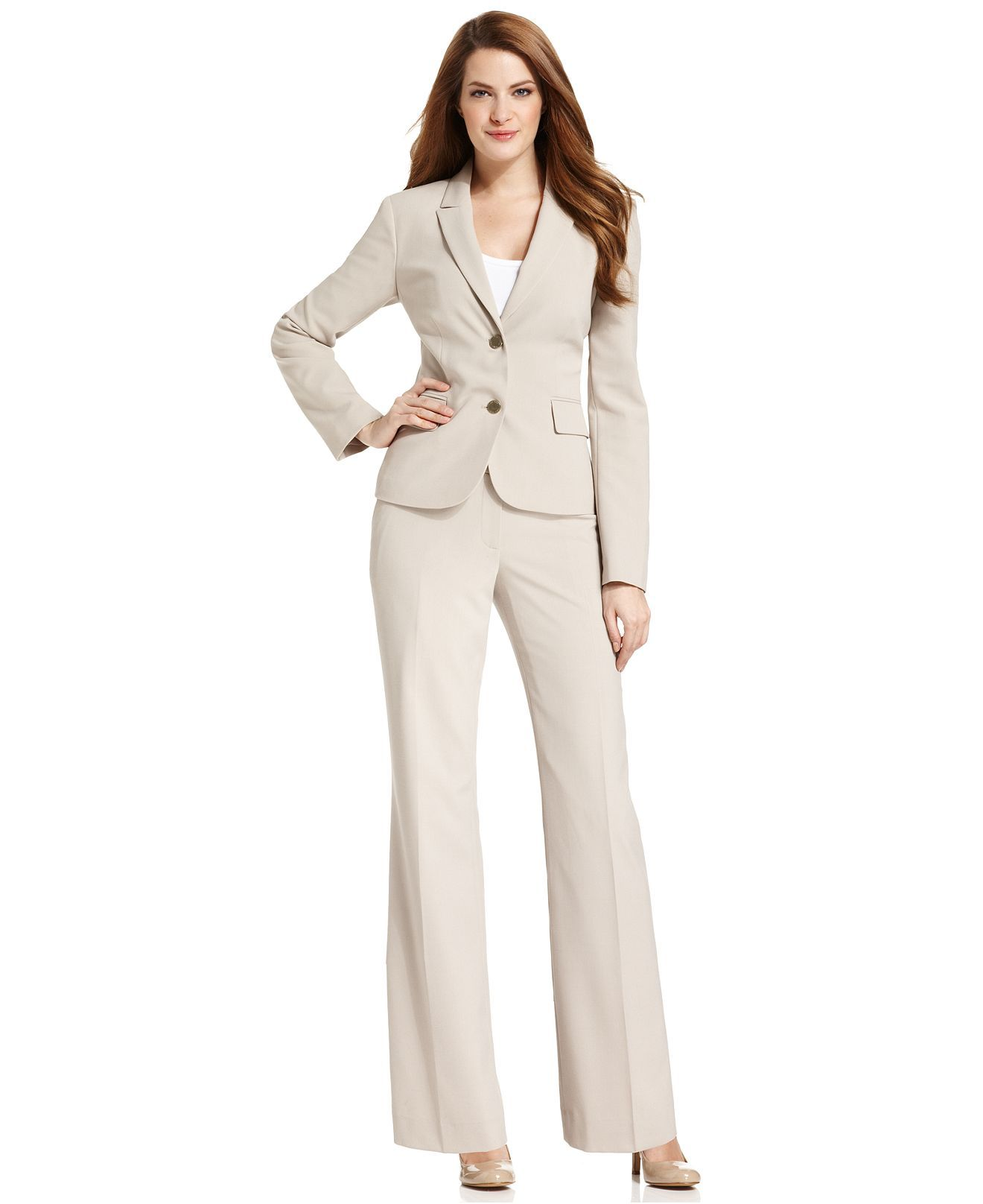 Calvin Klein Khaki Suit Separates Collection Calvin Klein Womens