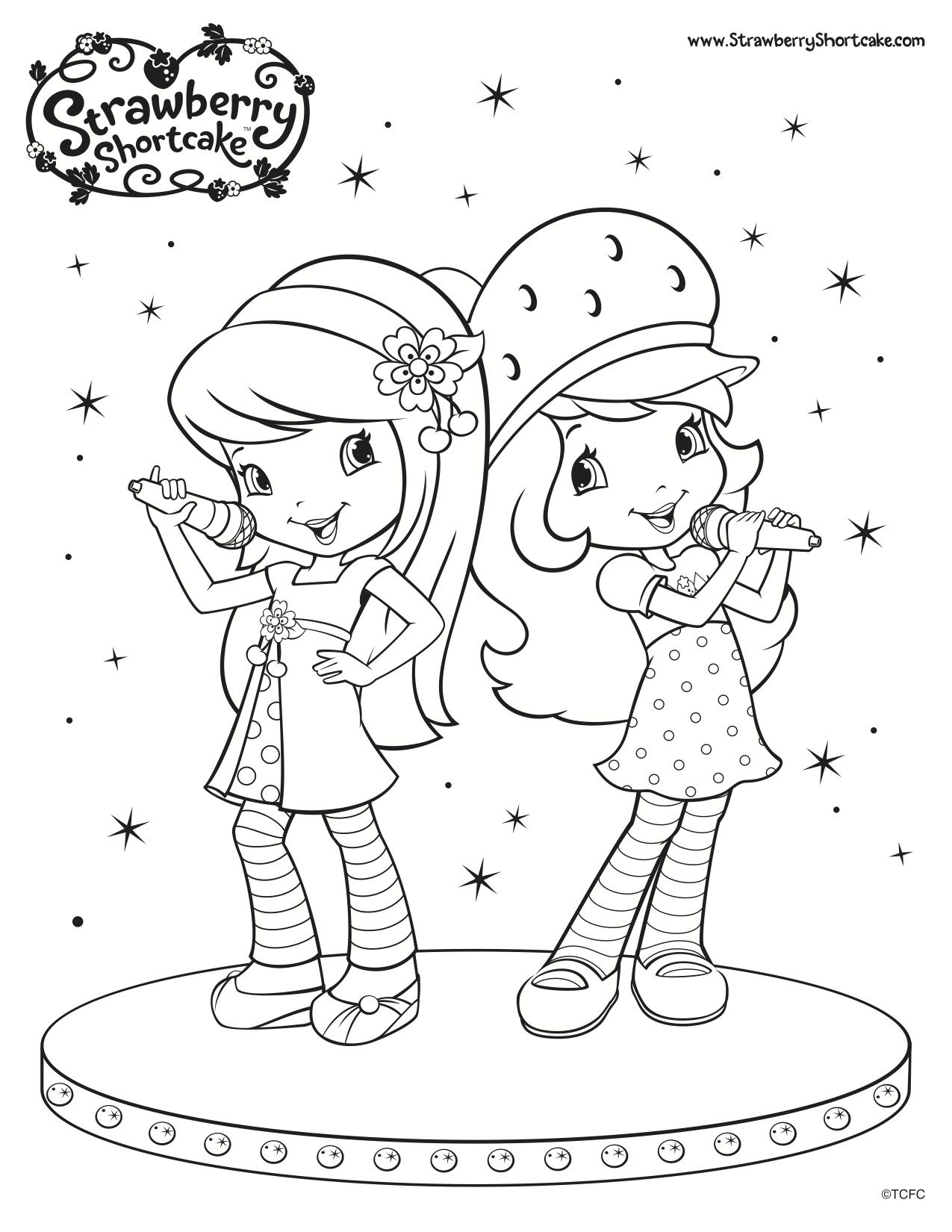 strawberry shortcake coloring pages - Pesquisa Google | Dâu Tây ...