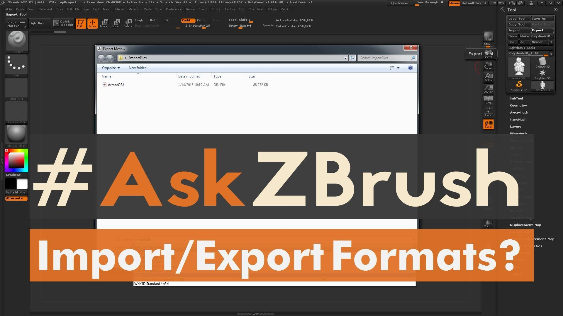 Askzbrush What File Formats Can Be Imported And Exported From