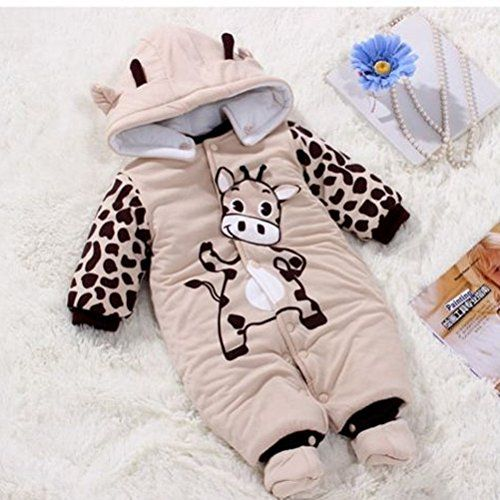 367123fa3 Newborn One-piece Baby Clothes Sets Cotton Thick Romper Outwear Cute ...