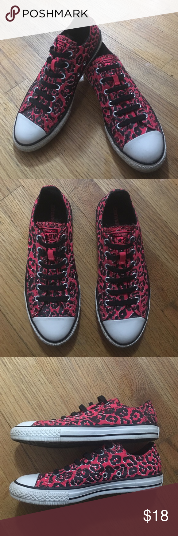 11fad3e42cdd Converse All Star pink and black no tie shoes