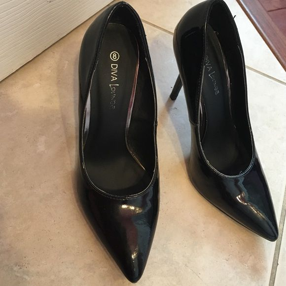Black stiletto heels Black stiletto heels that have only been worn twice. Very cute and stylish! Shoes Heels