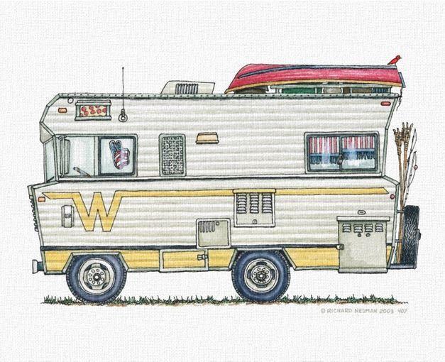 Whimsical Winnebago Camper RV Pinned By Haw Creek