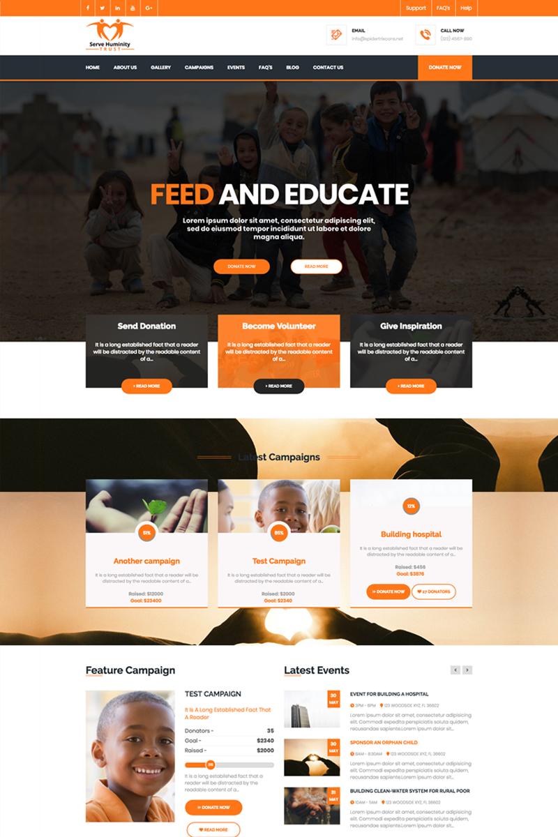 Servehman Nonprofit Charity Ngo Fundraising Joomla Template Joomla Charity Nonprofit Nonprofit Website Design Web Development Design Simple Web Design
