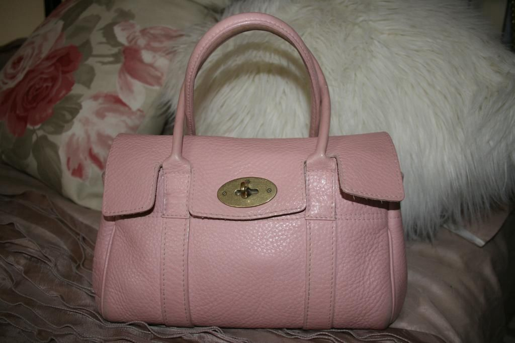 5c487329c7 MULBERRY LEDBURY ROSE GLOVE LEATHER BABY BAYSWATER BAG * GENUINE ...