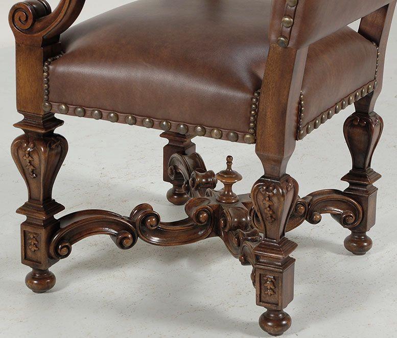 Louis Xiv Bankje.Louis Xiv Leather Armchair Armchair Louis Xiv Baroque Design