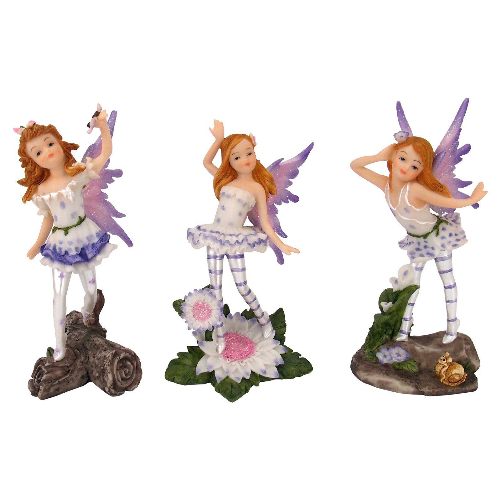 Design Toscano Honey Bunch Miniature Fairy Garden Statue - Set of 3 - QS9233925