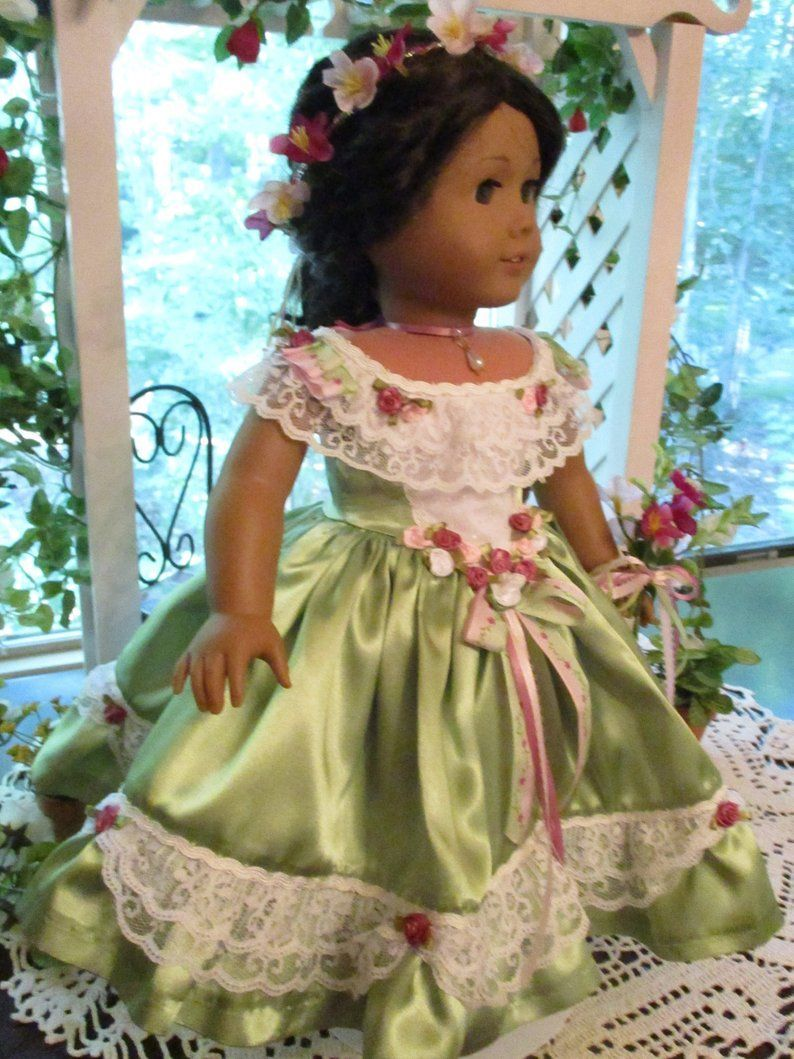 RESERVED FOR NANCY Southern Belle Historic Doll Dress to fit your 18 American Girl Doll from Civil War Era #dressesfromthesouthernbelleera RESERVED FOR NANCY Southern Belle Historic Doll Dress to fit | Etsy | by Emmakate0 #dressesfromthesouthernbelleera