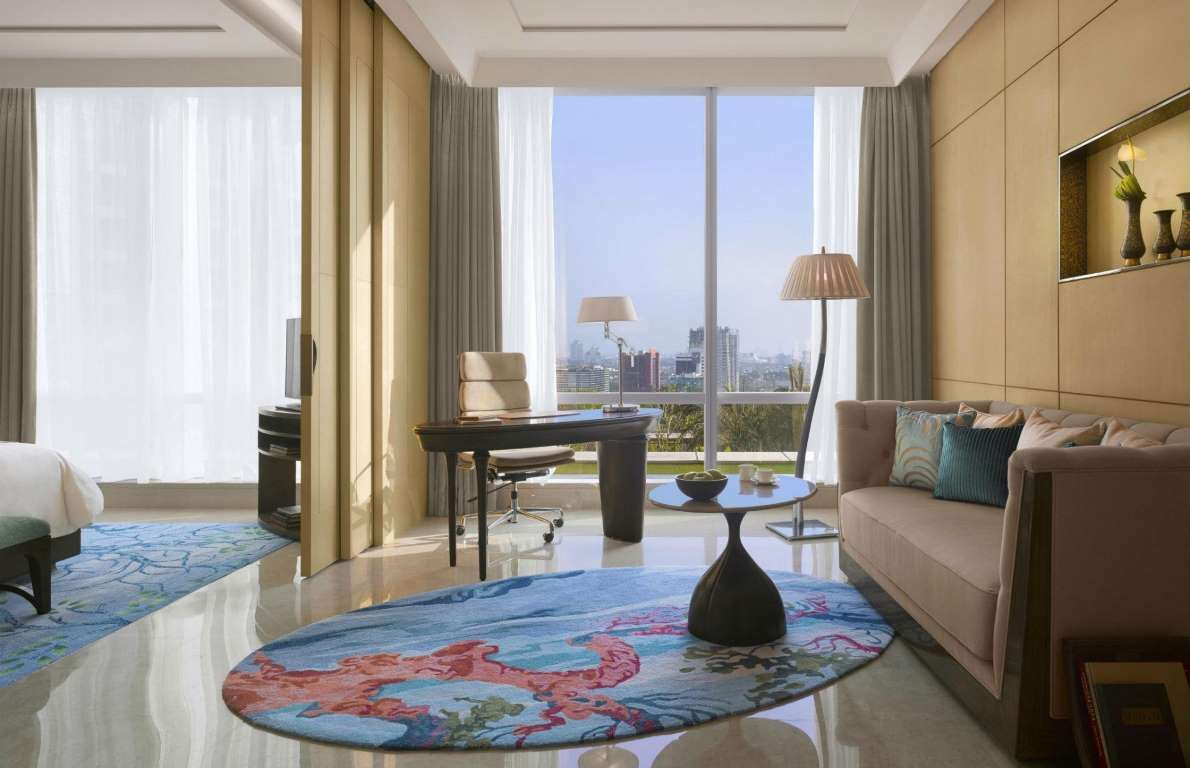 View from the Raffles Jakarta, Indonesia. | Perfect living room, Luxury accommodation, Hotel interiors