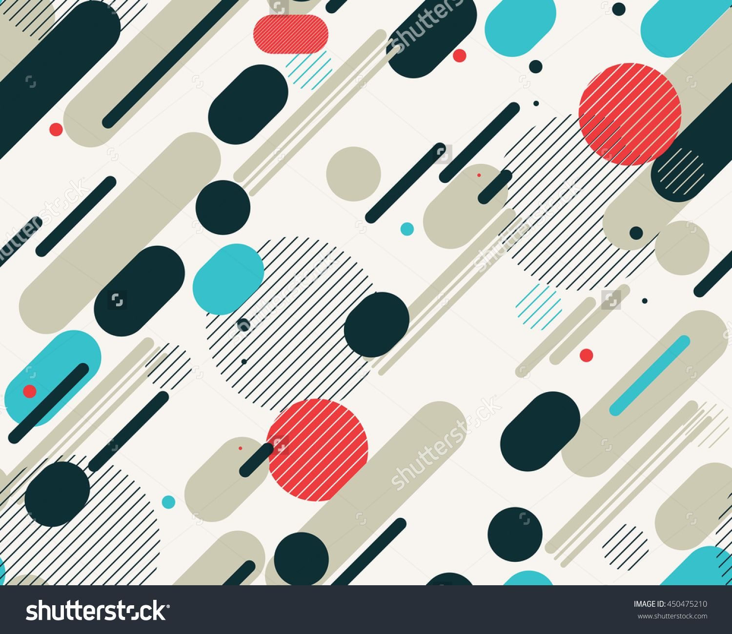 And black diagonal stripes background seamless background or wallpaper - Vector Seamless Parallel Diagonal Red Grey Blue Overlapping Color Lines Pattern Perfect Suit For Wallpaper Textile