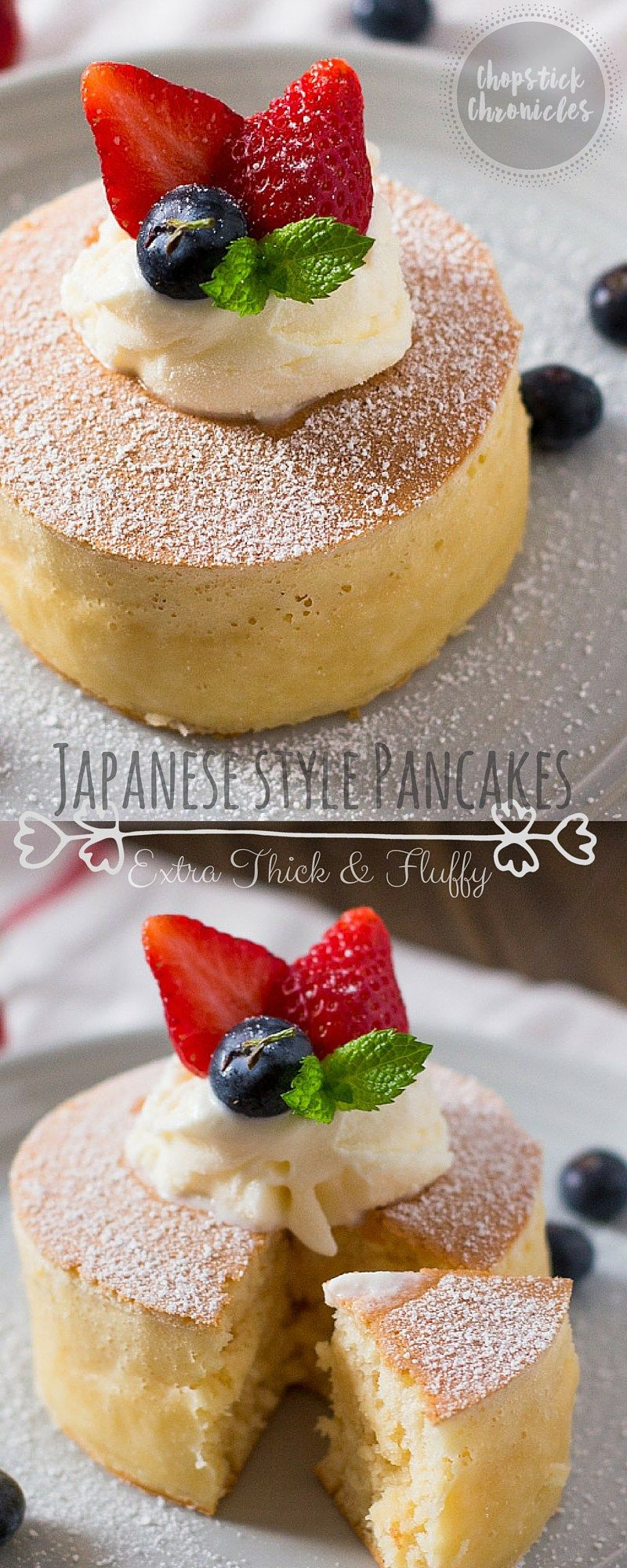 Extra Thick And Fluffy Japanese Pancakes Recipe Dessert Recipes Food Desserts