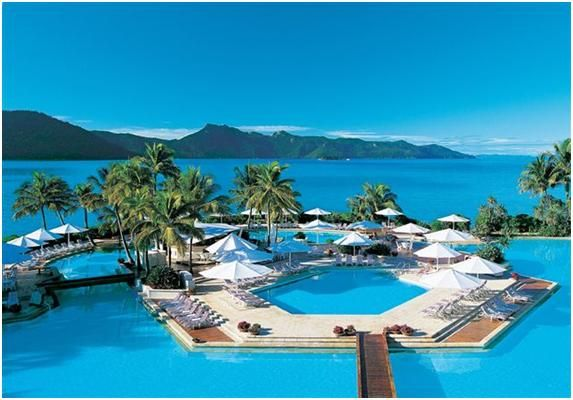 hayman island is home to the largest swimming pool in the southern hemisphere including the famous