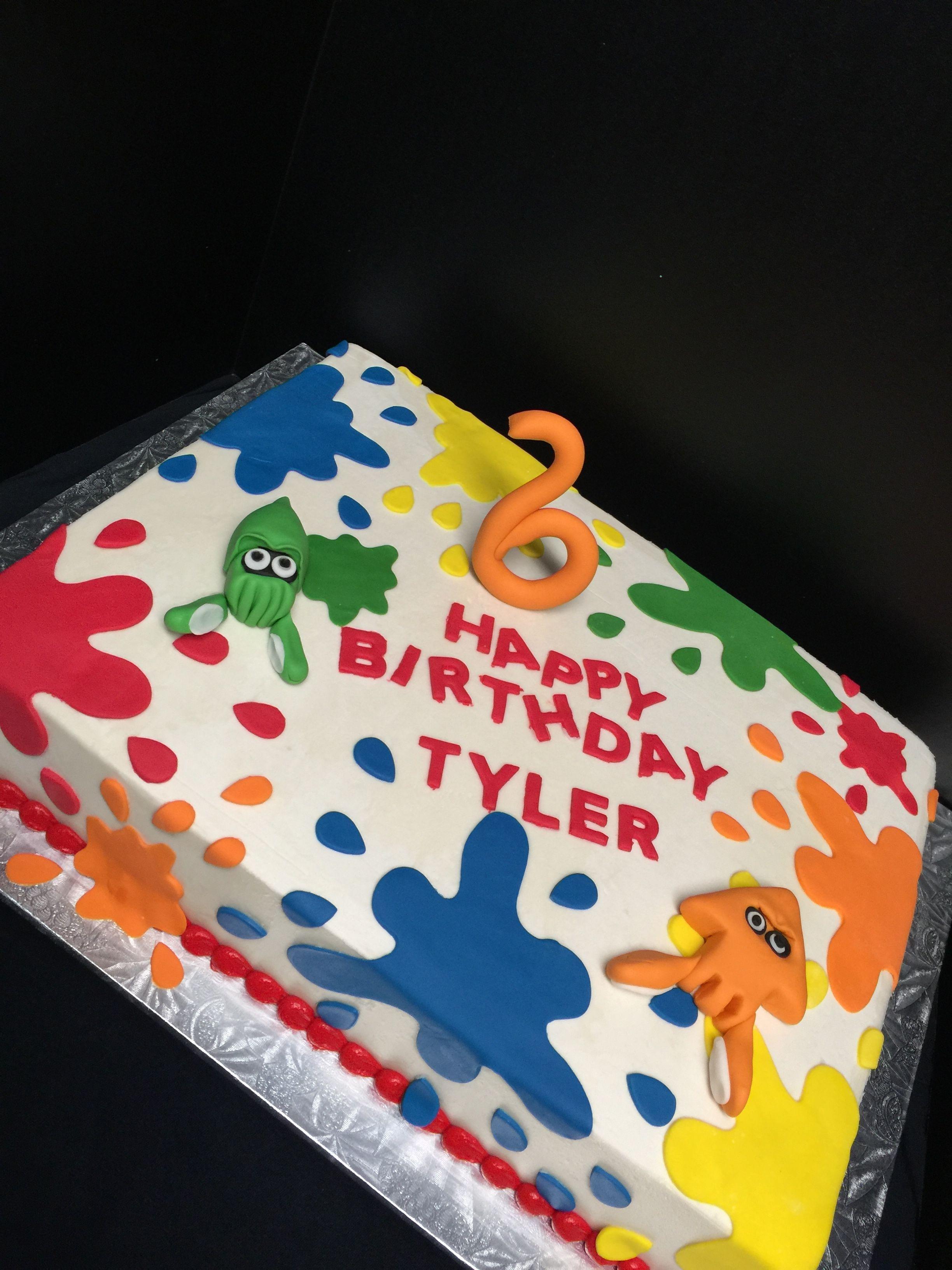 Splatoon Cake My Cakes 8th Birthday Cake 10th