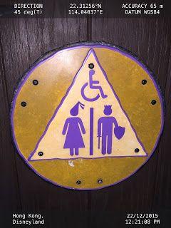 Toilet Sign At Disneyland Aseos