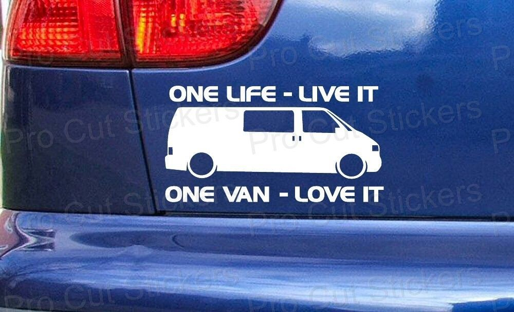 Transporter Camper Van One Life Live It Vinyl Custom Sticker