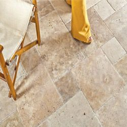Travertine Tile - Antique Pattern Sets - Scott Rustic / Antique Pattern / Brushed, Chiseled, and Unfilled