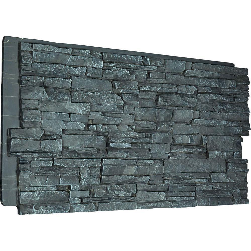 Canyon Ridge Stacked Faux Stone 48 X 24 Urethane Wall Paneling In 2020 Faux Stone Siding Stone Siding Panels Stone Veneer Panels