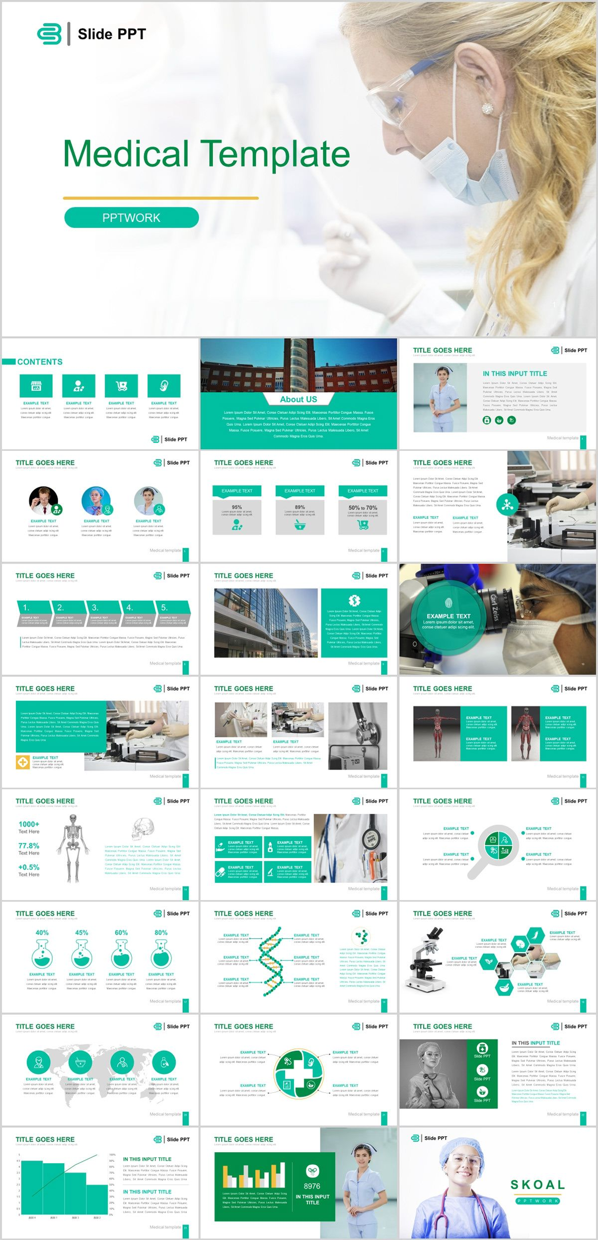 25+ Best Medical industry PowerPoint templates on Behance